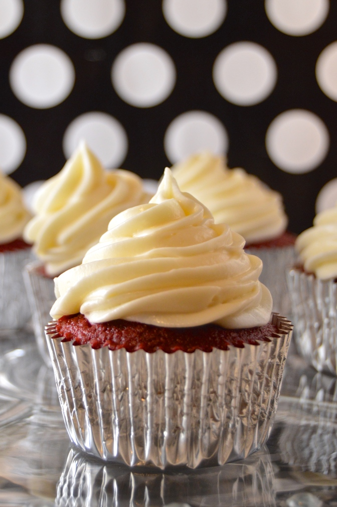 Red Velvet Cupcakes with Homemade Cream Cheese Frosting