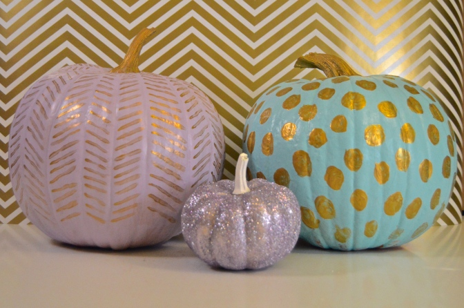 Halloween Decor: Painted Pumpkins
