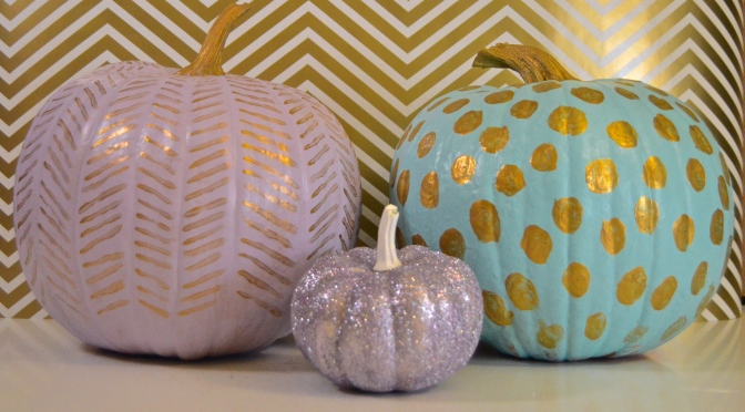 Halloween Decor: Painted Pumpkins