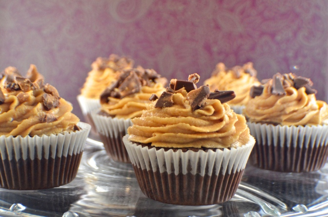 Reese's Brownie Cupcakes with Peanut Butter Frosting