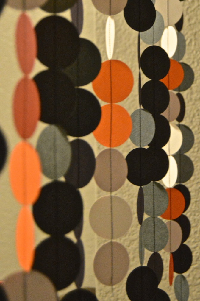 Halloween Decor: Paper Garland Curtain