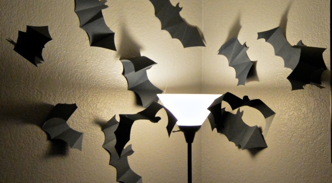 Halloween Decor: Paper Bat Swarm