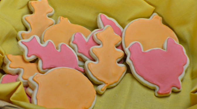 Autumn Sugar Cookies with Royal Icing