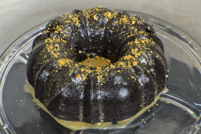 Chocolate Coffee Bundt Cake with Caramel Glaze