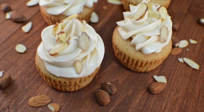 Almond Butter Cupcakes with Vanilla Buttercream
